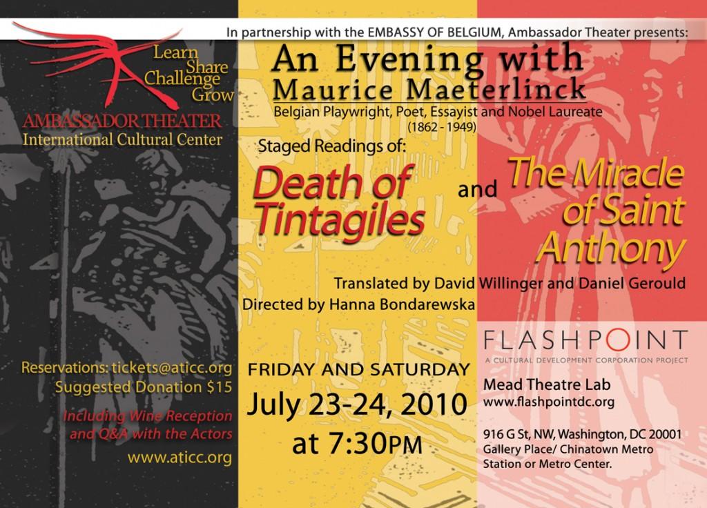 Maeterlinck_Staged_Readings_FLYER_AmbassadorTheater